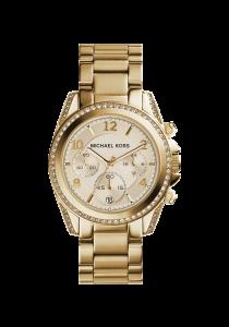 Michael Kors, Damenuhr,  Blair, MK5166, Chronograph, Edelstahl, gold